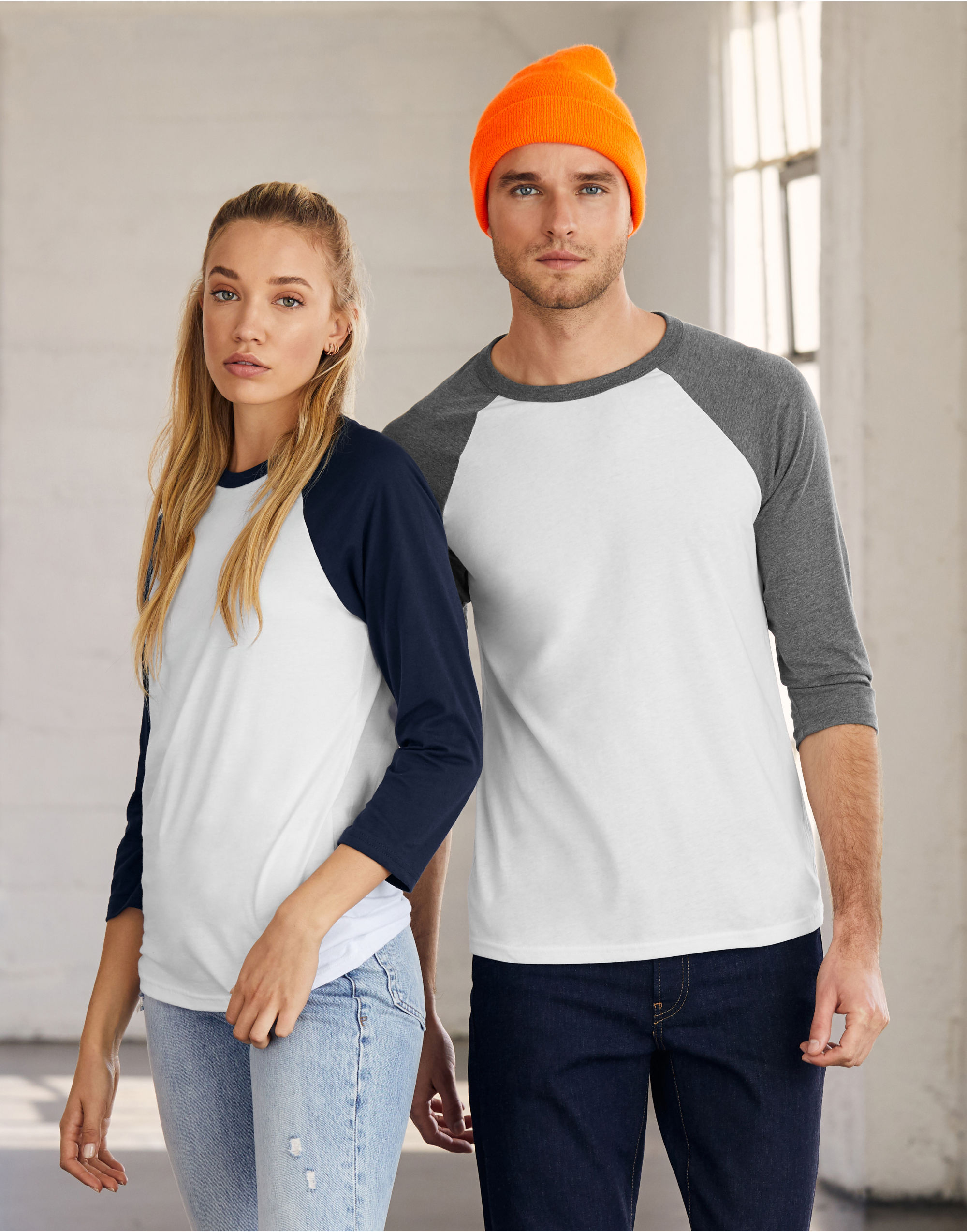 Bella Canvas Unisex 3/4 Sleeve Baseball Tee