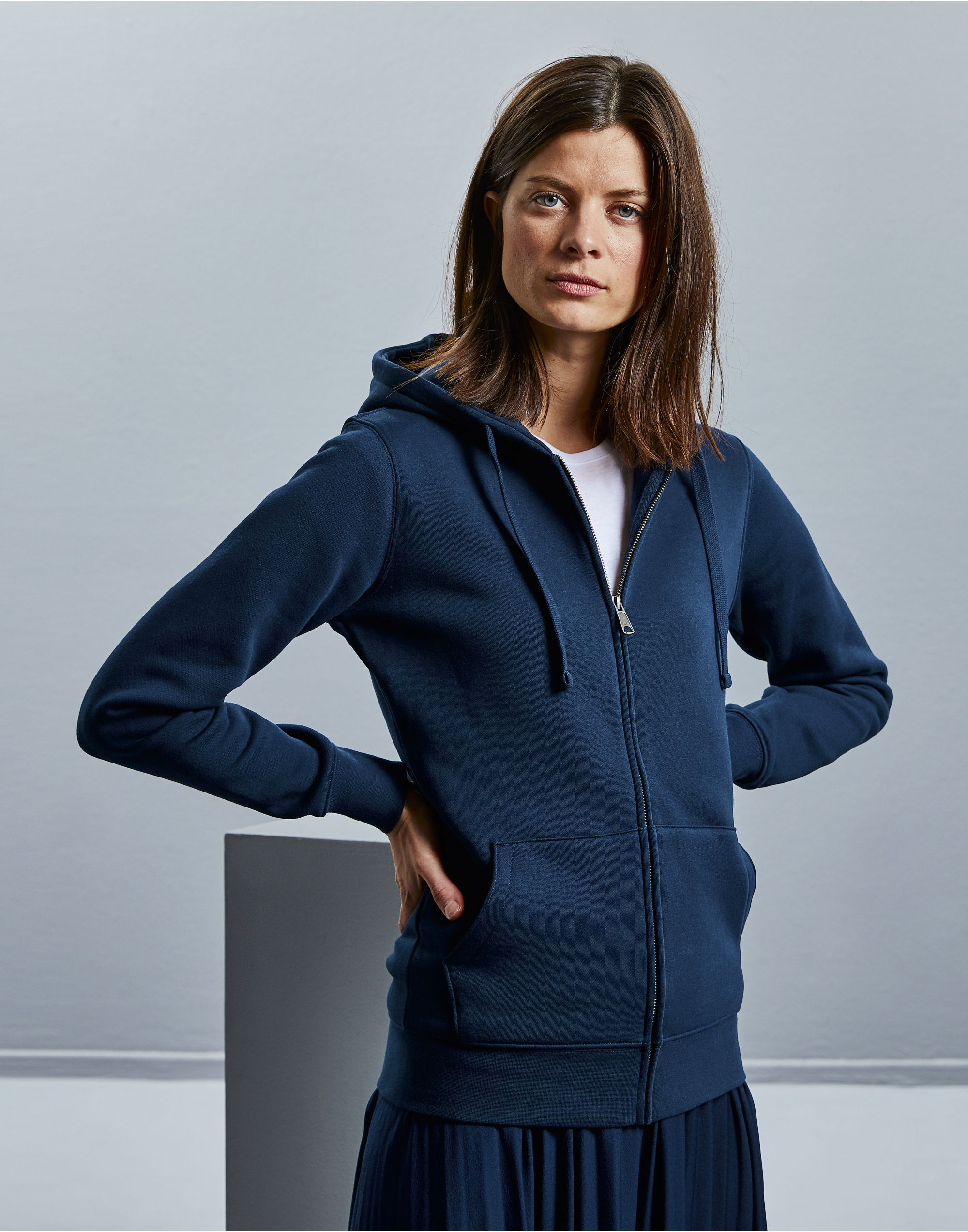 Russell Ladies' Authentic Zipped Hood
