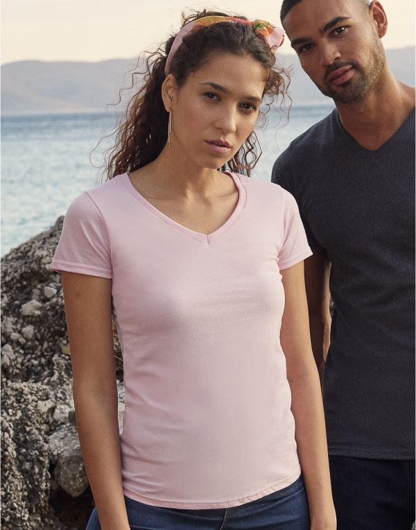 Fruit Of The Loom Ladies' Valueweight V-Neck T-Shirt
