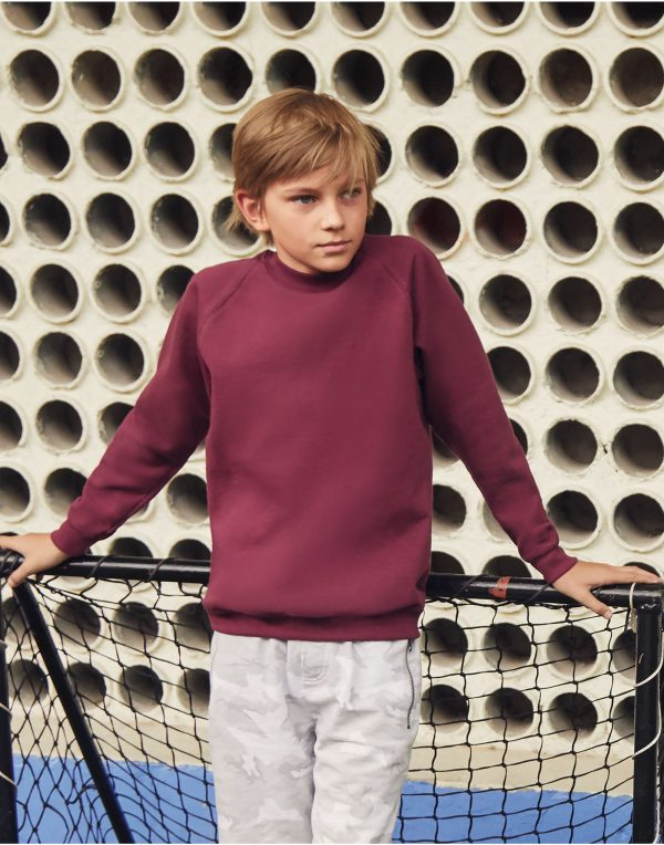 Fruit Of The Loom Kid's Classic Raglan Sweat