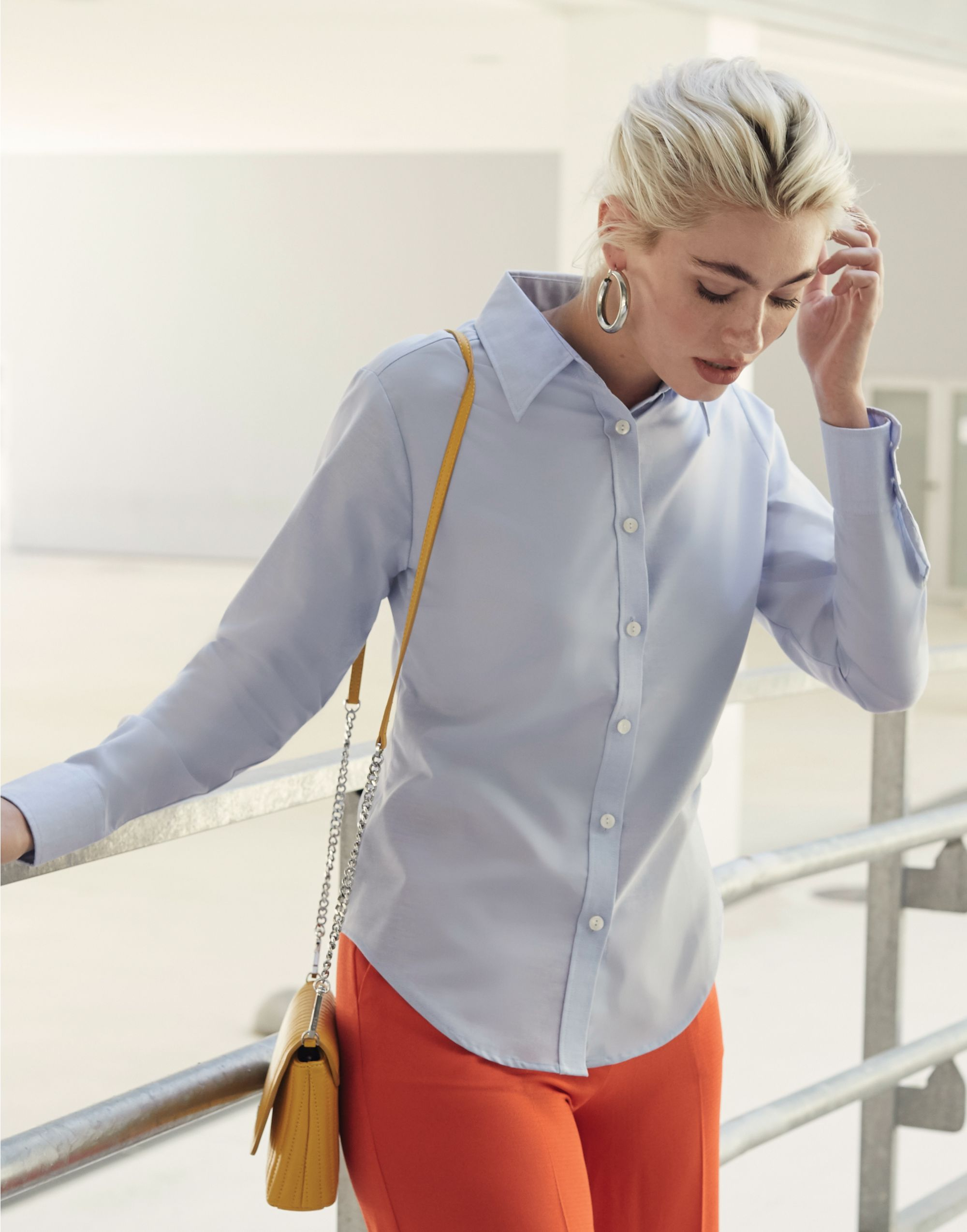 Fruit Of The Loom Ladies' Long Sleeve Oxford Shirt