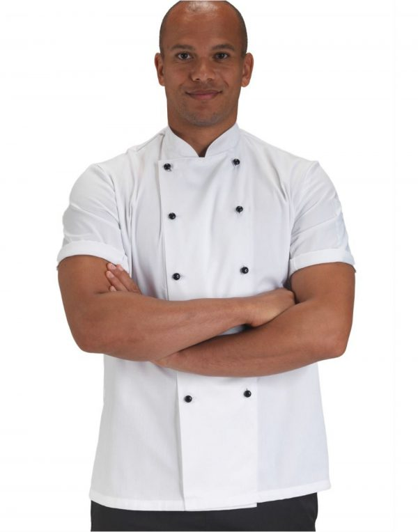 Dennys Removable Stud Short Sleeve Chef's Jacket