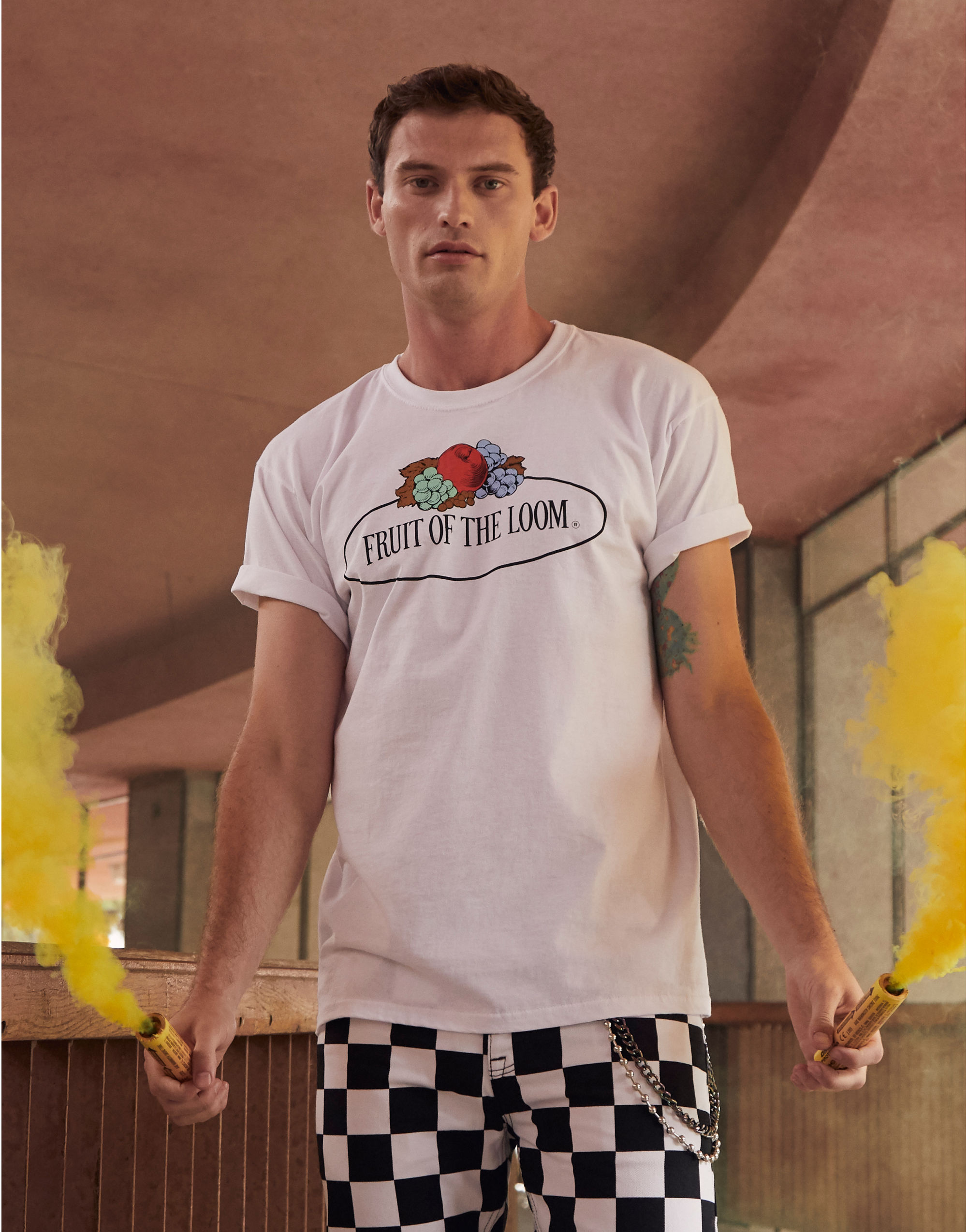 Fruit Of The Loom Retail Vintage Tee with Large Logo