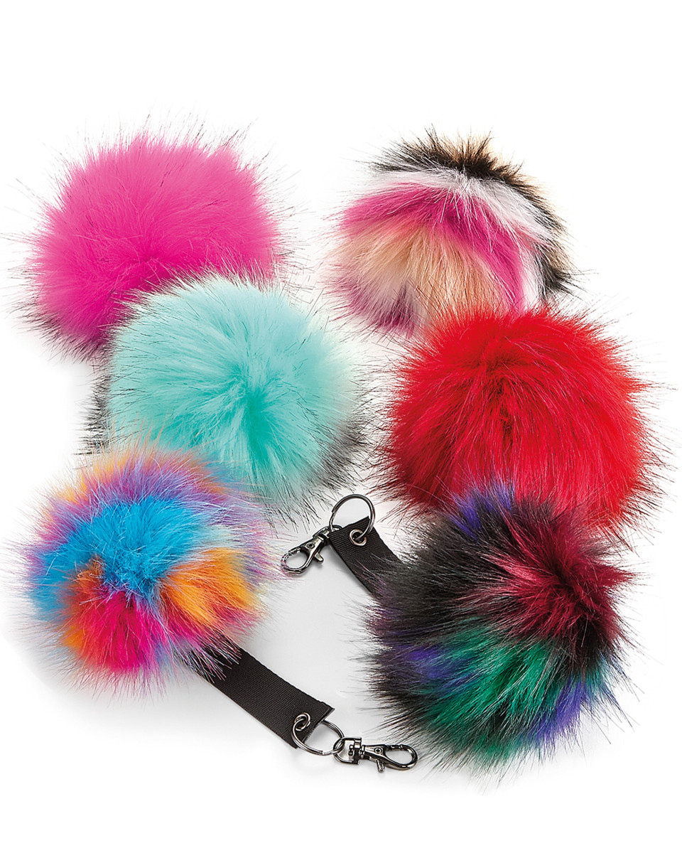 Beechfield  Faux Fur Pom Pom Key Ring