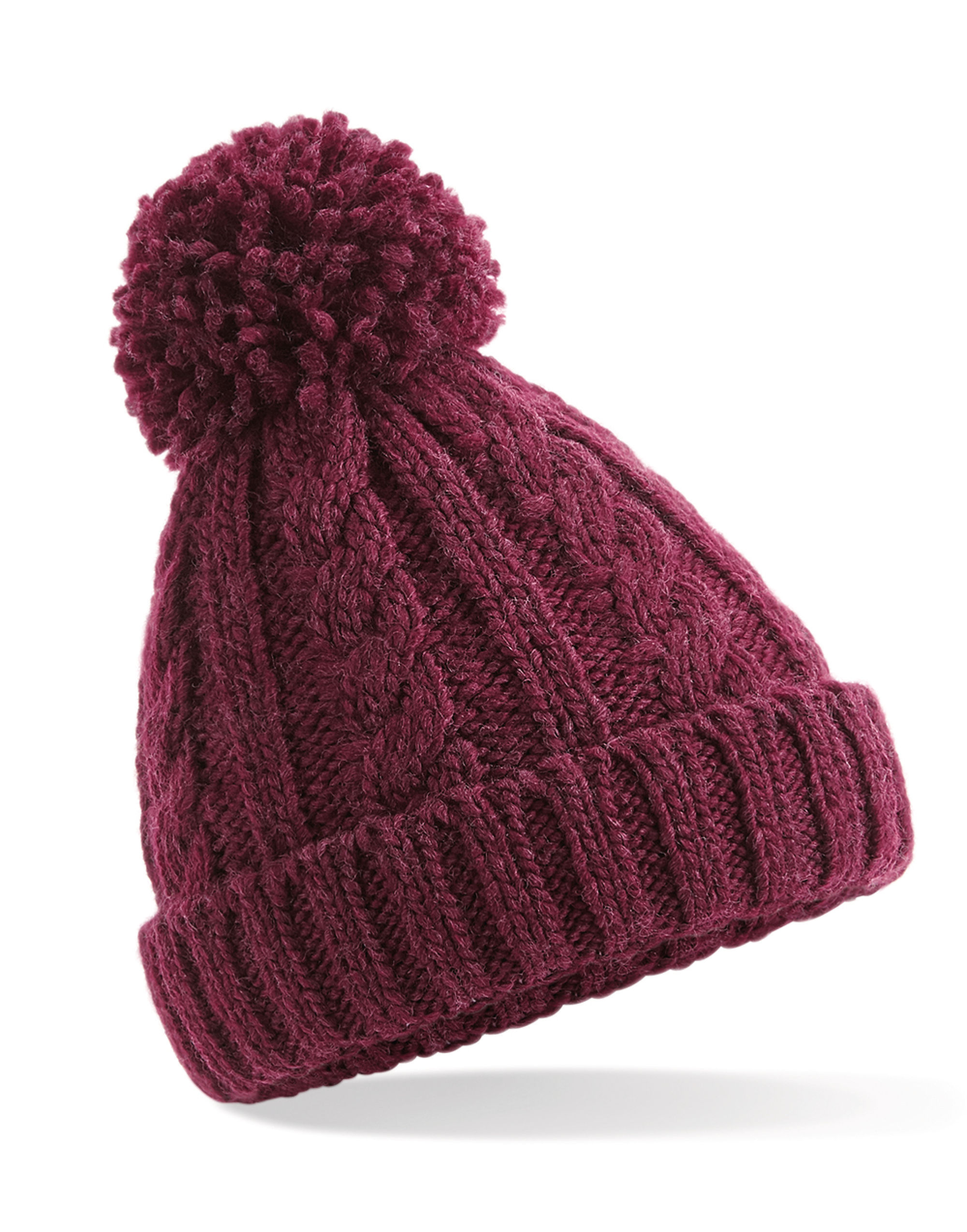 Beechfield  Junior Cable Knit Melange Beanie