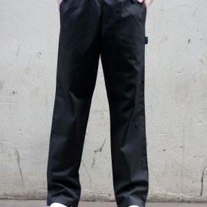 Dennys Unisex Elasticated Black Trouser