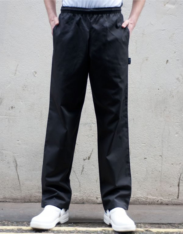 Dennys Unisex Elasticated Black Trouser