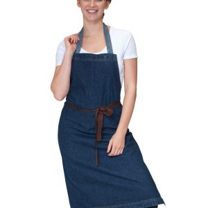 Dennys Washed Denim Bib Apron
