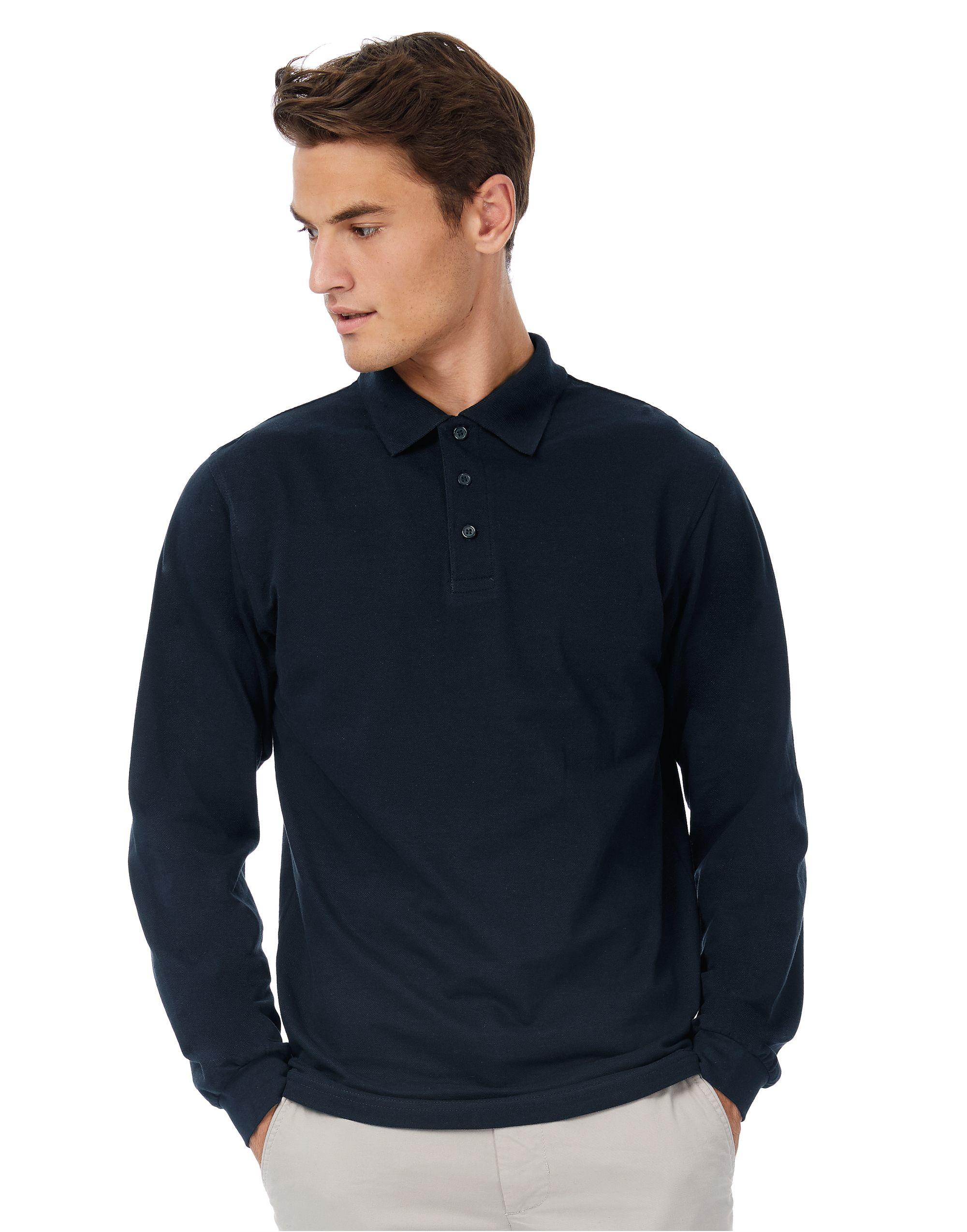 B&C Safran Long-sleeved Polo Shirt