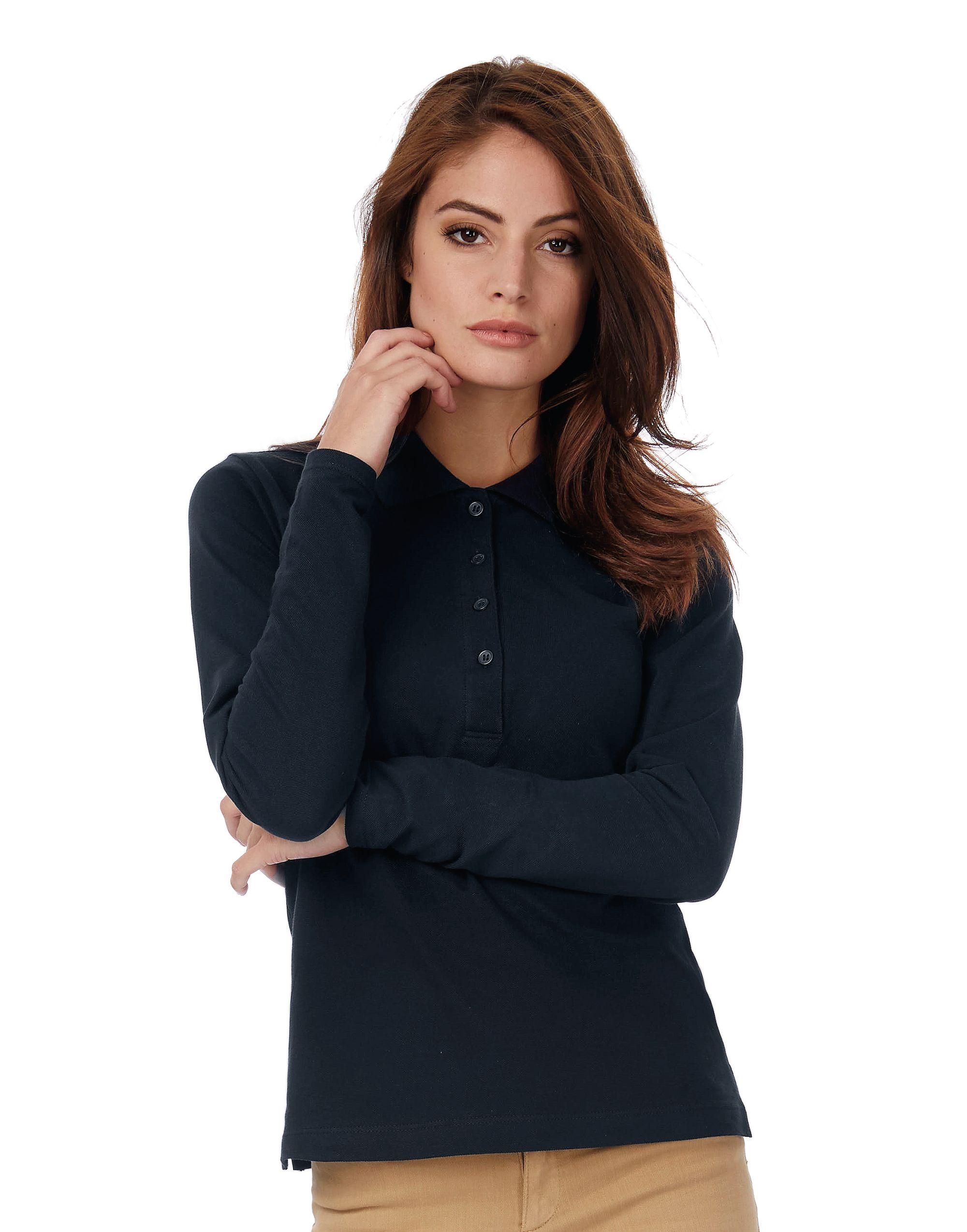 B&C Safran Pure Women's Long Sleeve Polo