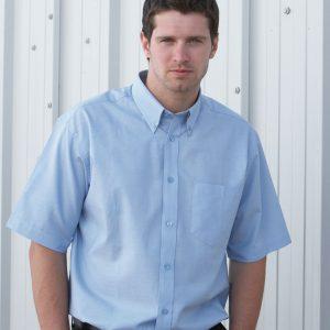 Dickies Men's Oxford Weave Short Sleeve Shirt