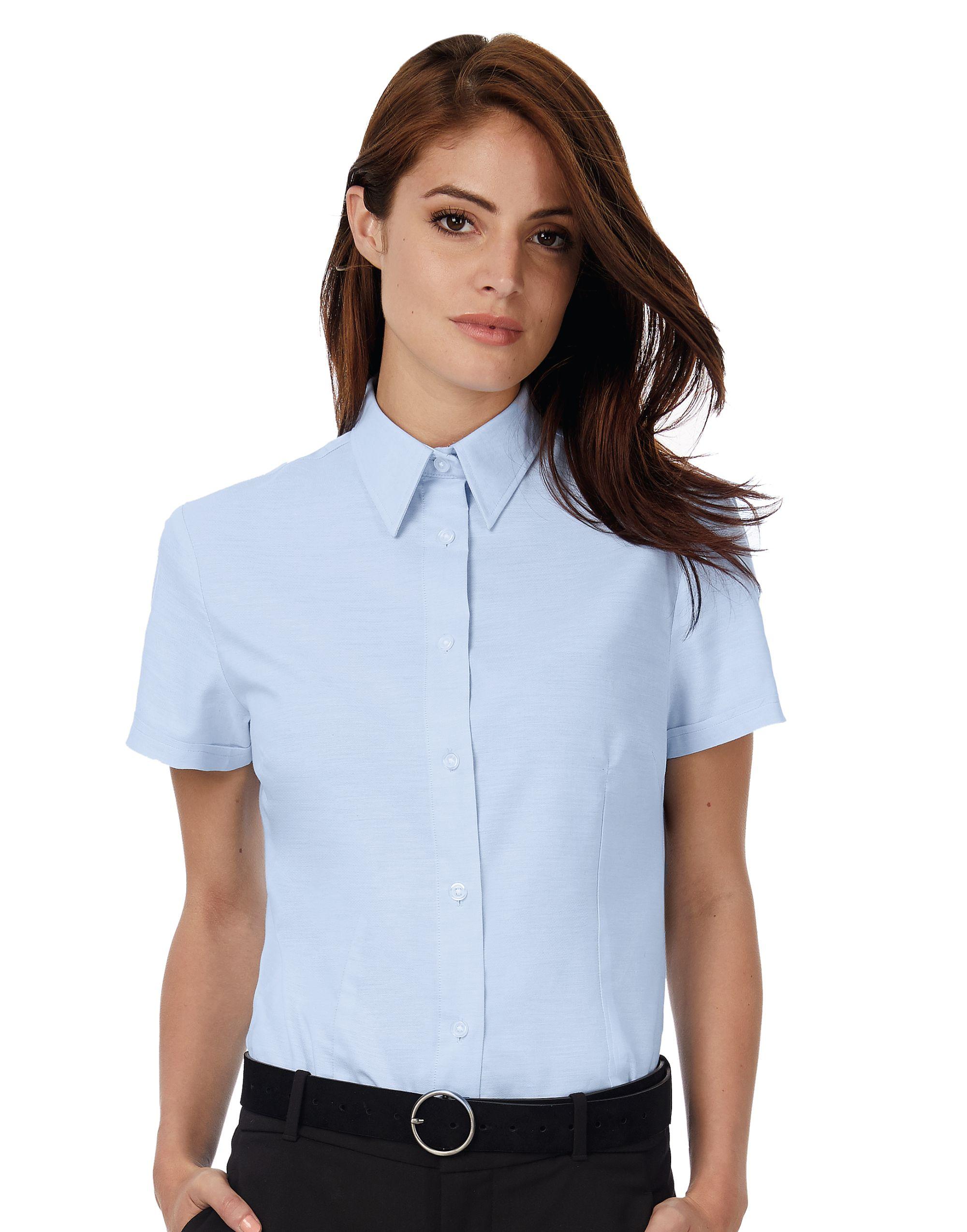 B&C Women's Oxford Short Sleeve Shirt