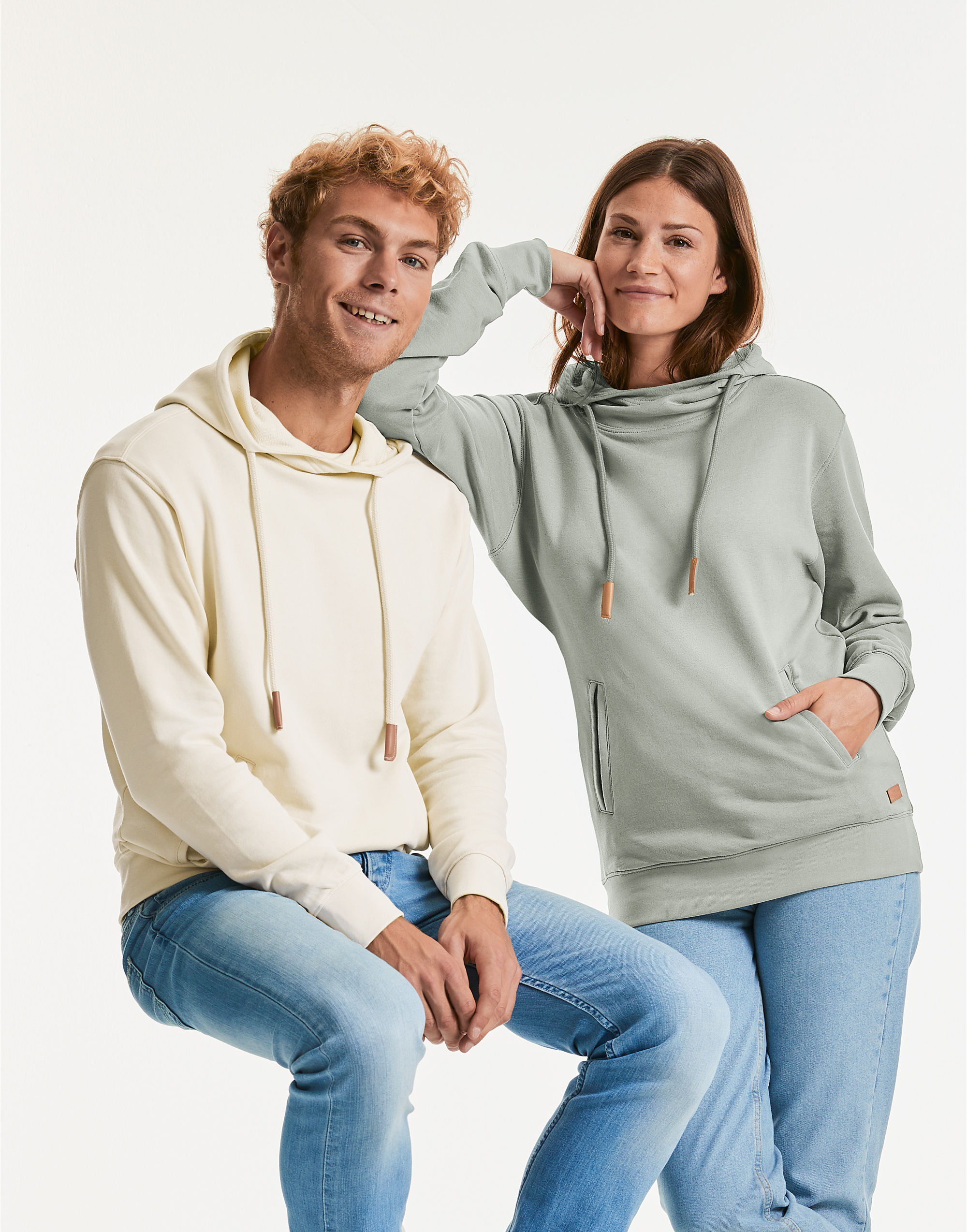 Russell Pure Organic Unisex High Collar Hooded Sweat