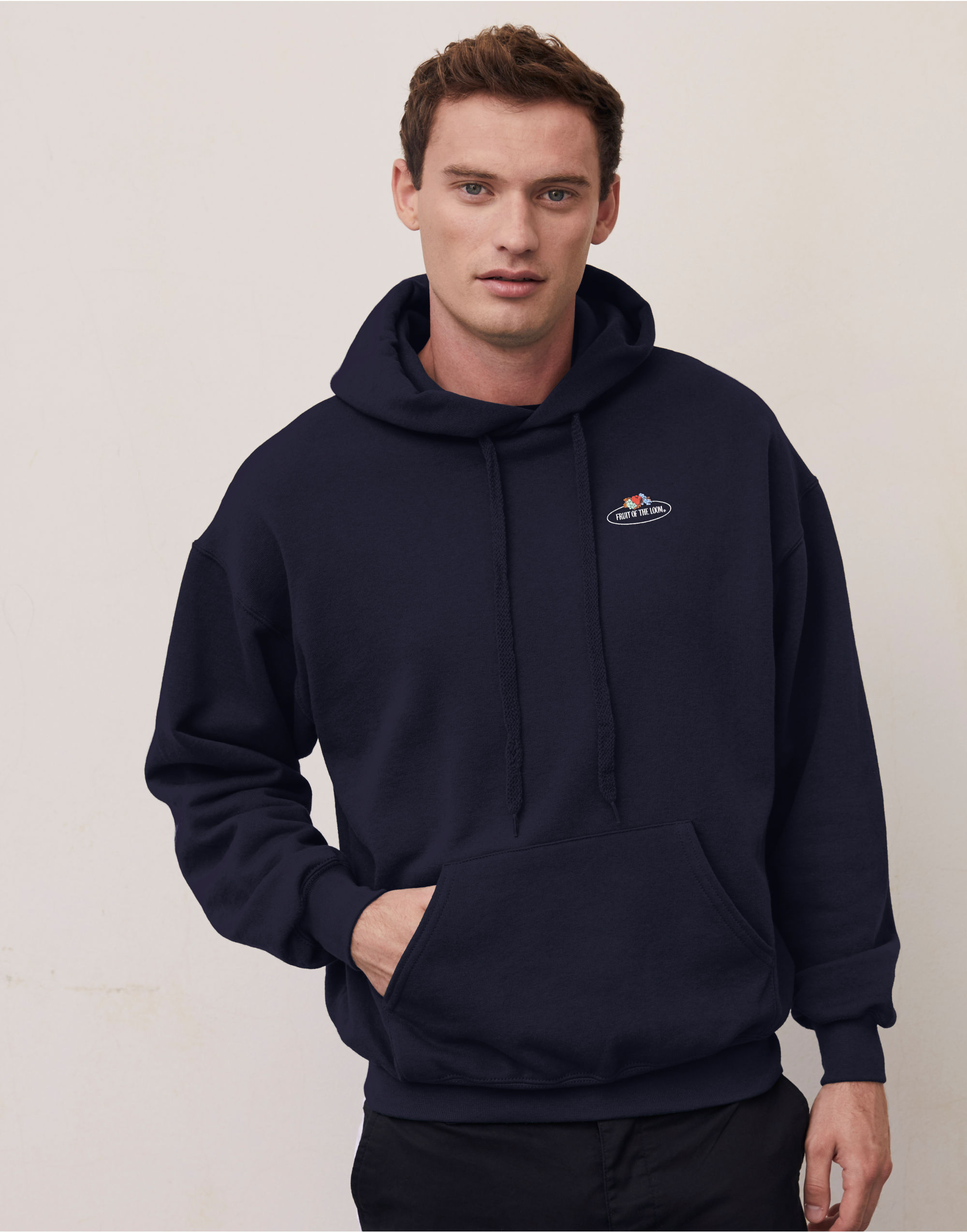 Fruit Of The Loom Retail Vintage Hooded Sweat with Small logo
