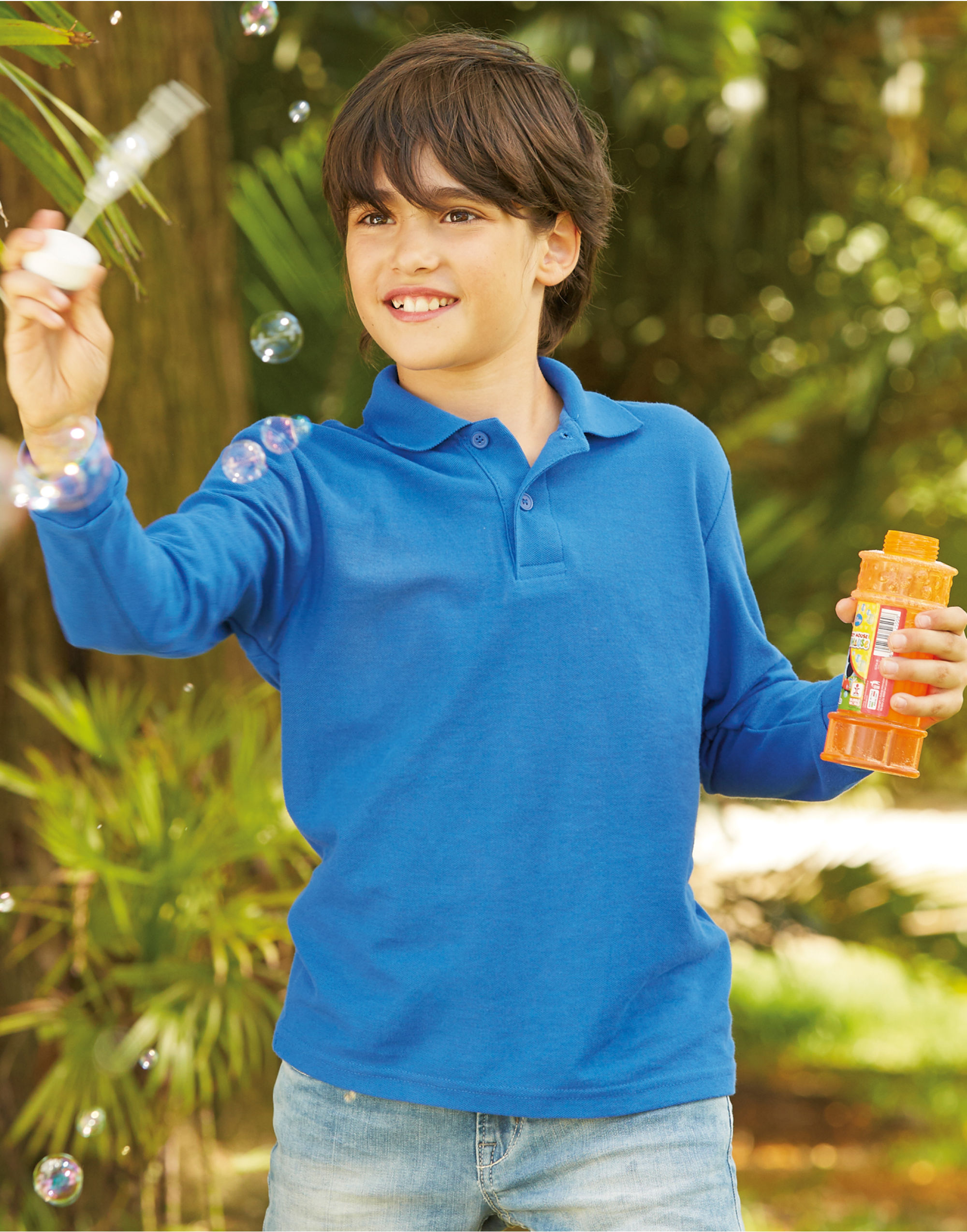 Fruit Of The Loom Kid's 65/35 L/Sleeve Polo