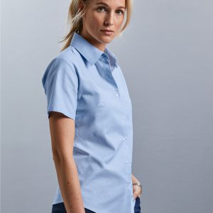Russell Collection Ladies' Short Sleeve Easy Care Oxford Shirt