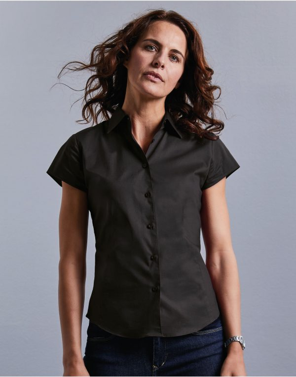 Russell Collection Ladies' Short Sleeve Easy Care Fitted Shirt