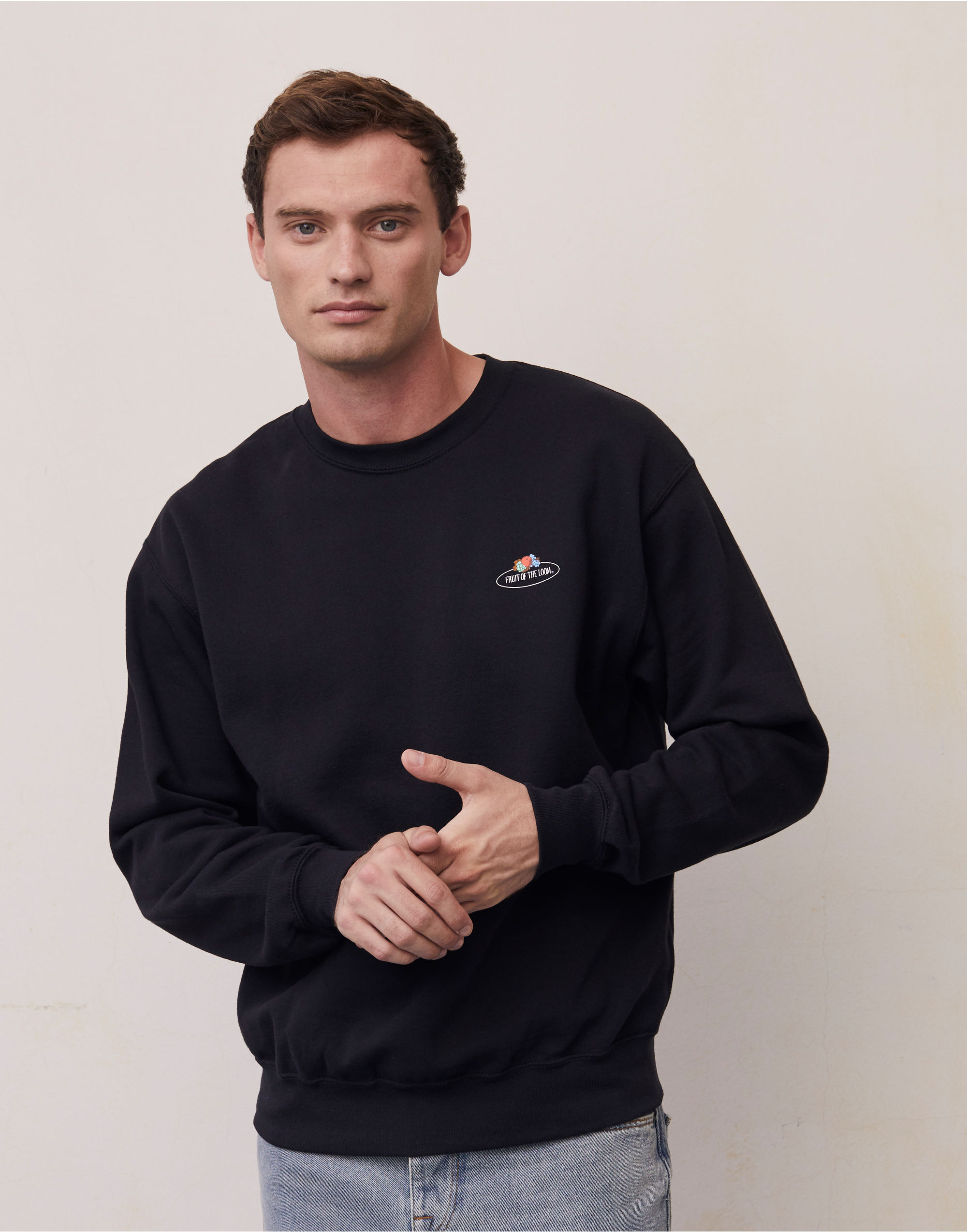 Fruit Of The Loom Retail Vintage Set-In Sweat with Small Logo