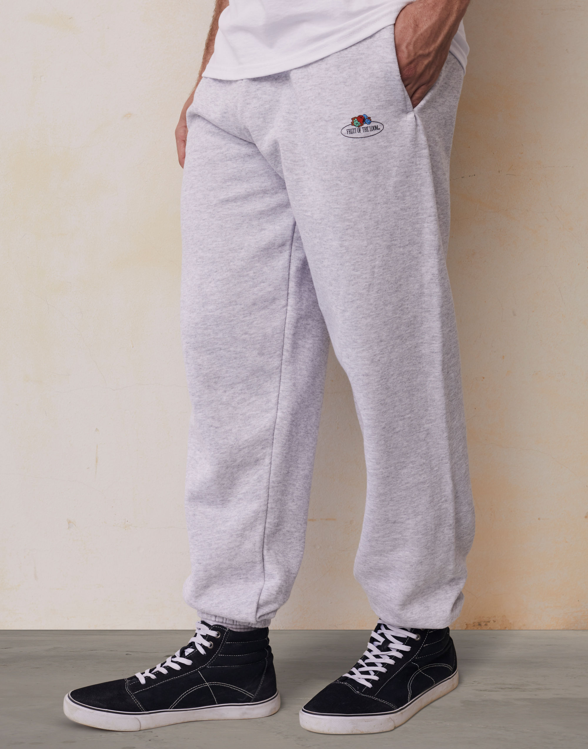Fruit Of The Loom Retail Vintage Elasticated Cuff Jog Pants with Small Logo