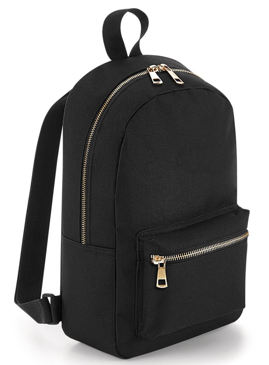 Bagbase Metallic Zip Mini Backpack