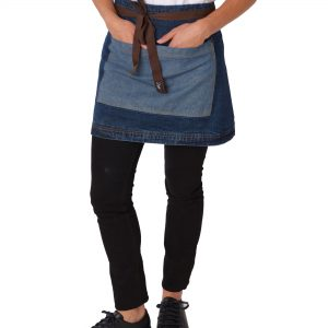 Dennys Denim Waist Apron with Contrasting Pocket