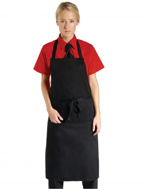 Dennys Low Cost Bib Apron With Pocket