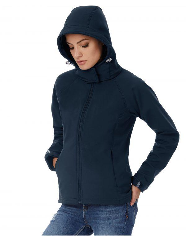 B&C Women's Hooded Softshell