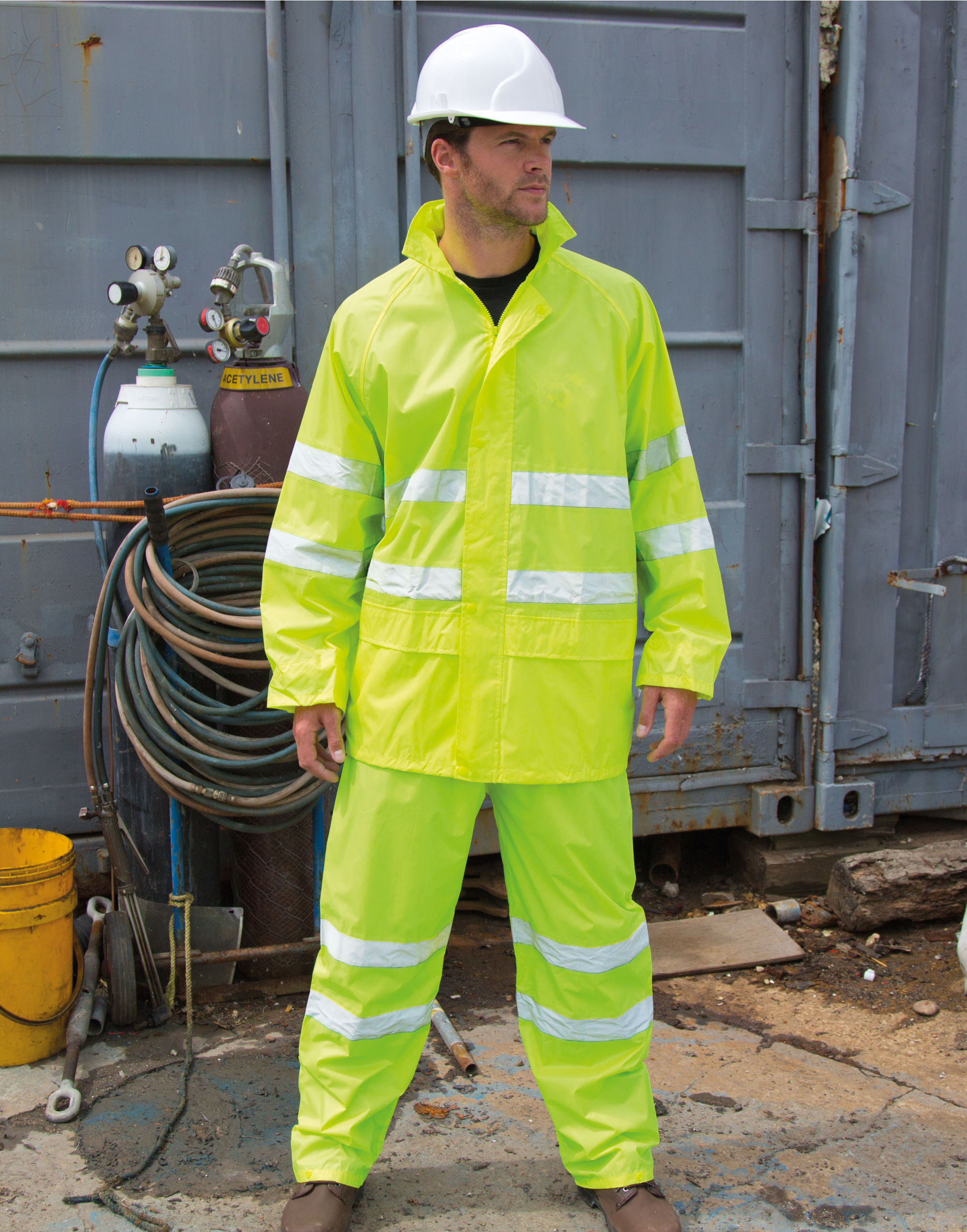 Result Safeguard Hi-Vis Waterproof Suit