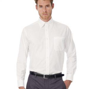 B&C Men's Oxford Long Sleeve Shirt