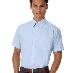 B&C Men's Oxford Short Sleeve Shirt