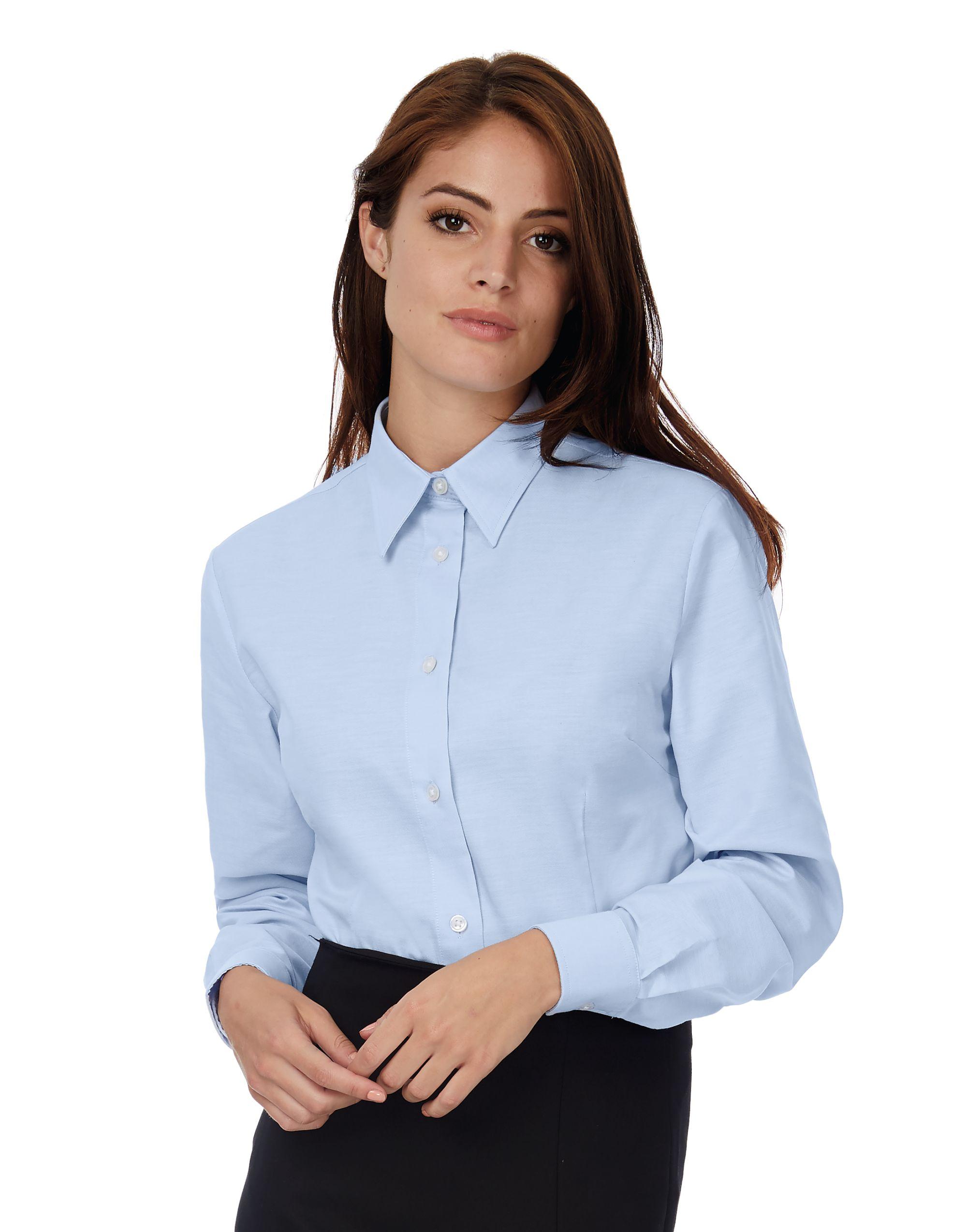 B&C Women's Oxford Long Sleeve Shirt