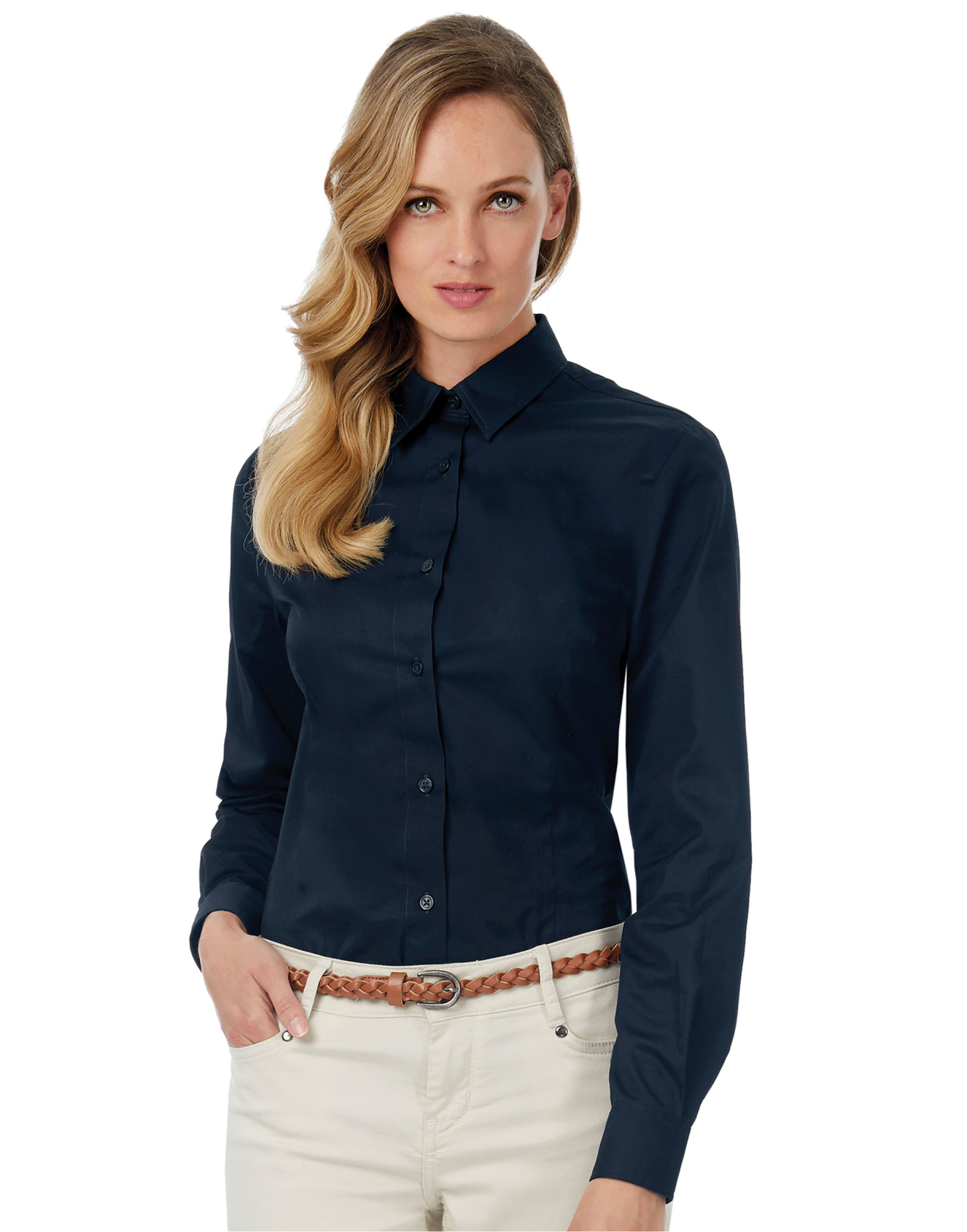 B&C Women's Sharp Twill Long Sleeve Shirt