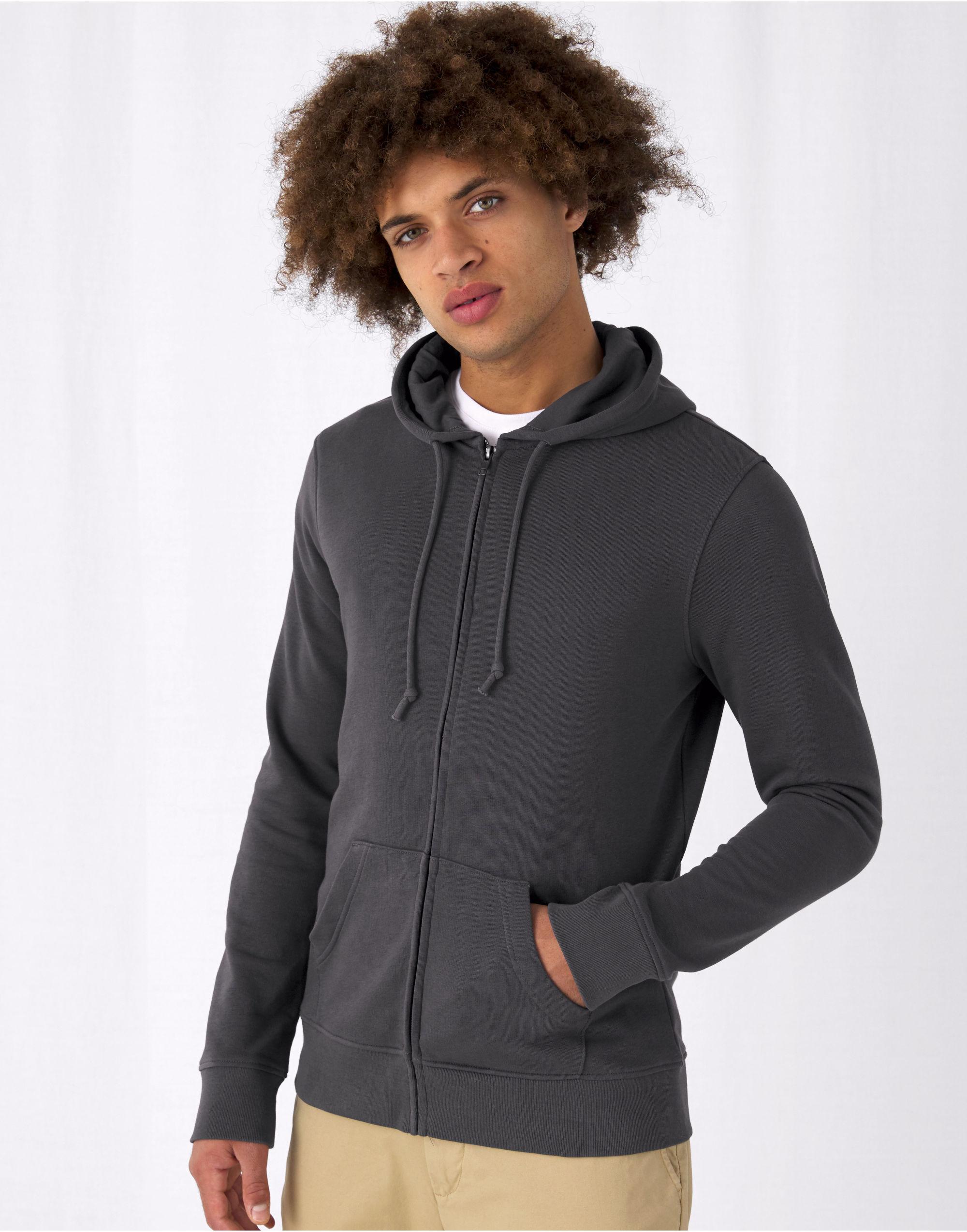 B&C Men's Organic Zipped Hood